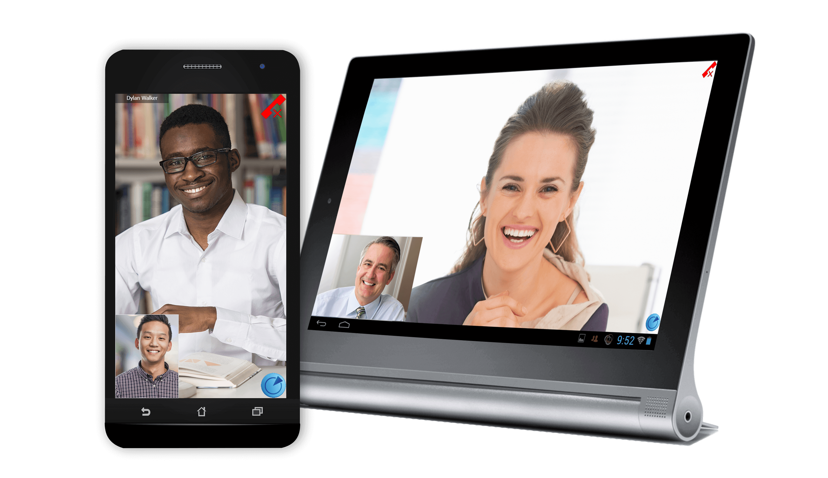 High-quality video conferencing