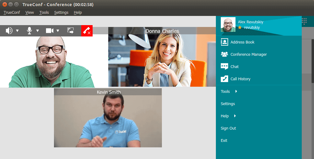 TrueConf Video Conferencing Software for Linux